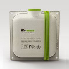 Life - Botella de agua hecha de papel reciclado – eco packaging