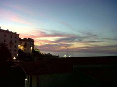 Il tramonto a Rodi Garganico visto dall'Hotel Borgo Marina