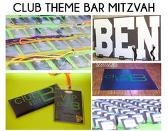 FROM OUR PORTFOLIO - Cutie Patootie Creations - Club Theme Bar Mitzvah - Lime Green and Royal Blue - #barmitzvahs #barmitzvah #mitzvah #mitzvahideas #cutiepatootiecreations