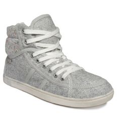 Roxy Gray Faux-fur Sneakers Lightly worn, still in good condition! Roxy Shoes Sneakers