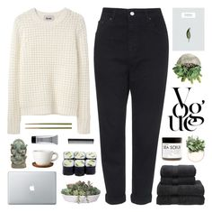 """~ 1O1715"" by khieug ❤ liked on Polyvore featuring Acne Studios, Topshop, Höganäs Ceramic, Fig+Yarrow, Crate and Barrel, VesseL, Stila, GHD, Christy and melsunicorns"