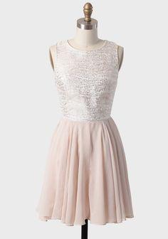 Beautiful Champagne Glimmer Jacquard Dress | Modern Vintage Dresses