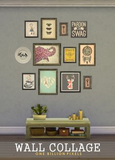 One Billion Pixels: Wall Collage • Sims 4 Downloads