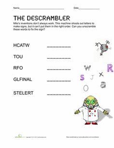 Unscramble Words Creator | ladull.org