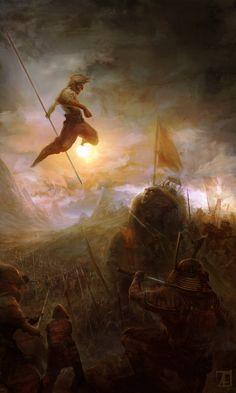 Fantasy Art: The Monkey King - Digital, Concept art, FantasyCoolvibe – Digital Art Kendo, Dungeons And Dragons, Dark Fantasy, Fantasy Art, Illustrations, Illustration Art, Cgi, Journey To The West, Into The West