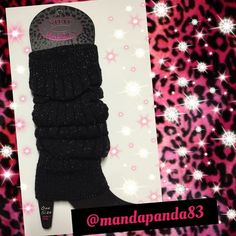 Beautiful Black Sparkle Leg Warmers NWT  These are so gorgeous! They are black with silver sparkle threading. Thank you!  Steve Madden Accessories
