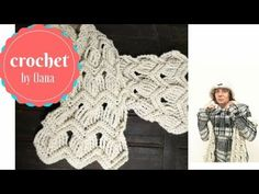 Crochet ripple scarf by Oana - YouTube