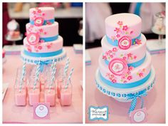 Tea party cake ideas. See more at www.karaspartyideas.com