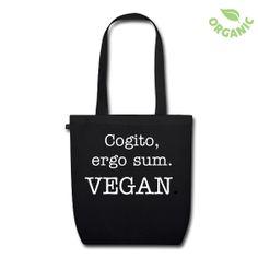 """""""Penso, dunque sono. Vegan."""". Perchè chi sceglie uno stle di vita vegan fa funzionare il cervello, superando luoghi comuni e convenzioni. Il ricavato viene interamente devoluto all'Ippoasi, rifugio per animali da reddito in Toscana - www.ippoasi.org."""