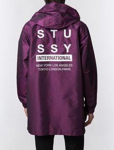 Stussy, Long Hooded Coach Jacket - Purple - Northside - 2