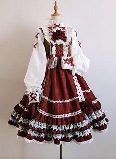 Pretty Outfits, Pretty Dresses, Beautiful Dresses, Cute Outfits, Kawaii Fashion, Lolita Fashion, Cute Fashion, Kawaii Dress, Kawaii Clothes