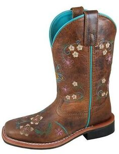 Smoky Mountain Western Boots Girls Floralie Pull On Brown 3841 Western Cowboy, Western Boots, Cowboy Boots, Smoky Mountain, Pull On Boots, Casual Sweaters, S Star, Brown Boots, Riding Boots