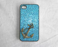 bronze anchor protective case for iPhone 5/4/4s,super flash sequins phone case,personalized Christmas gift,mobile accessories