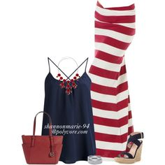 """Happy Independence Day"" by shannonmarie-94 on Polyvore Maxi Skirt Outfits, Maxi Skirts, Dress Skirt, 4th Of July Outfits, Summer Outfits, Casual Outfits, Summer Wear, Spring Summer Fashion, Happy Independence"