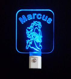 Personalized Hades Hercules LED Night Light, Customized Gift