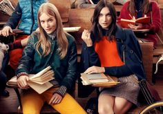 Tommy Hilfiger Fall 2013 Campaign is photographed by Craig McDean, styled by Karl Templer and creatively directed by Trey Laird of Laird + Partners. Craig Mcdean, Toni Garrn, Preppy Mode, Preppy Style, Preppy Girl, Tommy Hilfiger, Stylus, College Movies, Funny College
