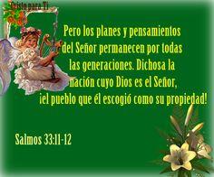 Salmos Proverbios y Citas Bíblicas: Salmos 33:11-12