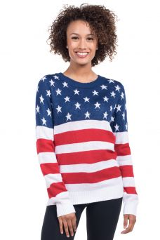 ec11bb431c7 Stay warm and show your patriotism at the same time with this American Flag  sweater.