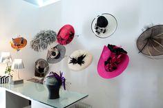 Meyer Estudio, Madrid Hat Display, Hat Stores, Hat Shop, Hat Making, Visual Merchandising, Headpieces, Space, Hats, Madrid