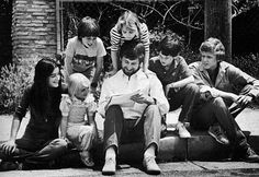 """Dominique (far left) with all the """"Spielberg Kids"""" of his 1982 hits, """"E.T."""" and """"Poltergeist"""" (including Heather O'Rourke and Drew Barrymore)"""
