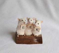 Taxidermy mice. by NimbleMatters on Etsy LOVE!