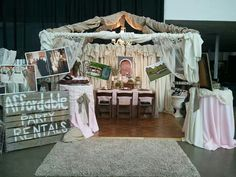 Bridal Show Booth with Affordable Party Rentals
