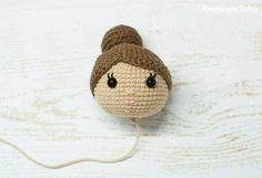 Ballerina doll crochet pattern - head