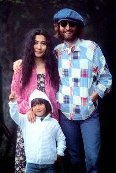 Yoko Ono, John Lennon and his son Sean