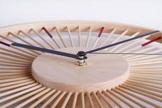 新品 自然家原创 竹时竹制创意设计现代简约静音挂钟时钟实木原木-淘宝网全球站
