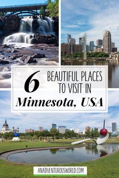 Beautiful Places to Visit in Minnesota - From exploring Minneapolis to swimming in the pools at Gooseberry Falls, here are some of the most beautiful places to visit in Minnesota! >> Click through to read the full post! Beautiful Places To Visit, Cool Places To Visit, Travel Usa, Travel Tips, Travel Videos, Gooseberry Falls, Amazing Adventures, State Parks, Travel