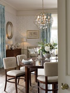 Find sophisticated detail in every Laura Ashley collection - home furnishings, children's room decor, and women, girls & men's fashion. Dining Room Lighting, Dining Room Table, Home Living Room, Living Room Decor, Laura Ashley Home, Laura Ashley 2018, Laura Ashley Interiors, Childrens Room Decor, Home And Deco