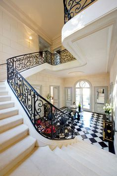 .Wow...Love wrought iron staircases..!!