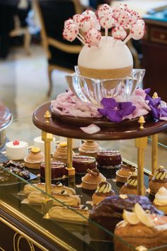 Wagon of Pastries - La Galerie at the Four Seasons Hotel George V, Paris.