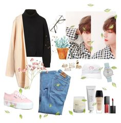 """""""💐"""" by soojinchoi ❤ liked on Polyvore featuring Proenza Schouler, Levi's, Le Labo, Byredo, Superga, Komono, Guerlain and Smashbox"""