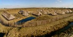 Reconstruction of pre-migration Borremose fortress. This seems like a really extensive, well-researched if not entirely accurate article. Denmark History, Viking House, Germanic Tribes, Iron Age, Picts, Historical Architecture, Prehistory, Roman Empire, Archaeology