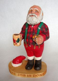 Hand Carved Santa Woodcarving Old World Santa by DMWOODCARVING