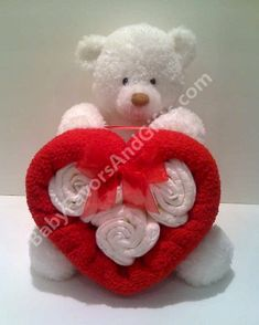 Valentine Diaper Cake, baby shower gift