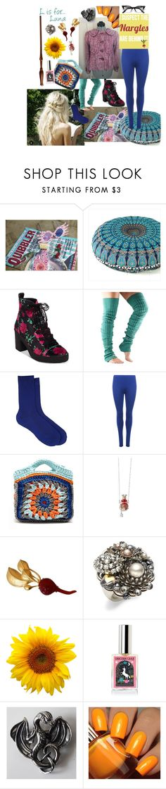 """Luna Lovegood"" by volitairia ❤ liked on Polyvore featuring Betsey Johnson, ToeSox, Maria La Rosa, WearAll, My Beachy Side, Frankie & Stein, Karl Lagerfeld, Miriam Haskell and Floss Gloss"