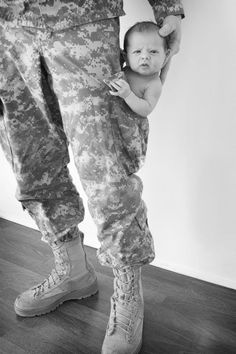 I would consider having another baby just to take this picture!  What is sexier than a man in uniform...a man with his baby in his uniform.