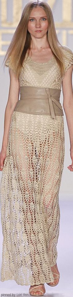 Meskita- what a beautiful nude crochet dress..