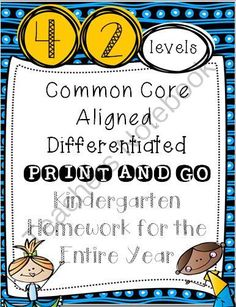 Homework for the entire year?! Say what?! Enter for your chance to win 1 of 2.  Common Core Aligned, Differentiated PRINT & GO Kindergarten Yearlong Homework (490 pages) from TheKinderLife on TeachersNotebook.com (Ends on on 10-26-2014)  This easy to differentiate, print and go, homework pack covers the Common Core. As a bonus, the pages can easily be used in the classroom as well. Don't miss my SPOOKTACULAR sale, 35% off all products!
