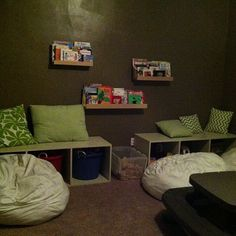 Playroom - I'd make the walls lighter for a playroom, but otherwise it's great!