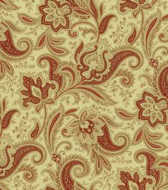 Home Decor Print Fabric-Waverly Rustic Retreat Crimson, , hi-res $20.19