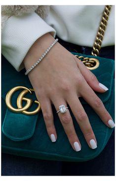 Emerald Cut Engagement, Dream Engagement Rings, Halo Diamond Engagement Ring, Vintage Engagement Rings, Engagement Nails, Cushion Cut Engagement, Nagellack Design, Manicure E Pedicure, Nagel Gel