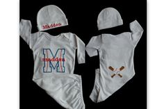 Layette Gown Monogram  Baby Boy Baseball Take Me Home Outfit .Baby Boy Clothes Perfect for Twins ....Sports Baby Gift Set via Etsy