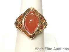New Sevan Heavy Gold on Sterling Silver Marquise Carnelian Ring Ret $250 #SevanBicakci #FashionRightHand