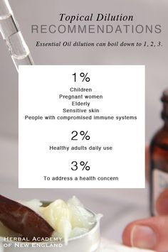 A Guide to Safely Using Essential Oils including topical essential oil dilution recommendations