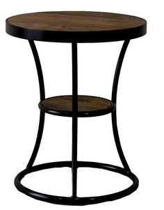 Round coffee table made of reclaimed wood provides a mysterious charm to your interior.