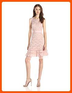 BCBGMAXAZRIA Women's Elaina Sleeveless A-Line Dress, Shadow Blush, 4 - All about women (*Amazon Partner-Link)