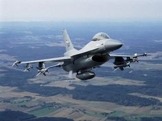 Royal Norwegian Air Force F-16 Fighting Falcon with Penguin anti ship missiles.